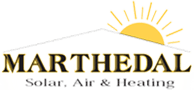 Marthedal Solar, Air & Heating Retina Logo